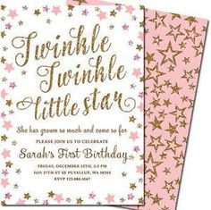 gold 1st birthday invitations - Google Search