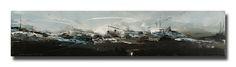 STADTLANDSCHAFT – Mischtechnik auf Leinwand auf 2cm Keilrahmen – licht- und farbecht endfixiert – Größe: 20×100 www.atelier-meintkebehder.de