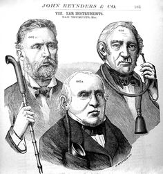 gents with ear trumpets