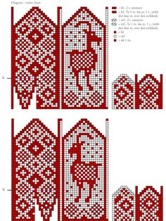 Knitted Mittens Pattern, Knit Mittens, Knitting Patterns, Fair Isle Chart, Filet Crochet, Knitting Projects, Tricks, Gloves, Cross Stitch