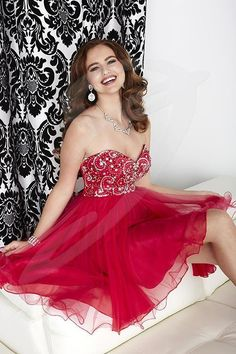 Jacquelin Bridals Canada - 27034 - Prom - Sweetheart strapless neckline with Rhinestone Pattern beaded on bust, full A-Line Flowy chiffon Overlay , and Pleated back with center zipper.