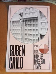 Exposición de Rubén Grilo en Fundació Miró de Barcelona. La imagen es visual y el diseño contemporáneo. El texto, que no me permite adjuntar en este mismo pin, está dirigido a un público versado en arte contemporáneo y con conocimiento de las estrategias y los lenguajes del arte actual. Puede ser algo críptico.