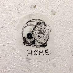 home is where you hang yourself #flashwork #cosmonaut #astronaut