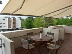 Balcony awnings or sun blinds