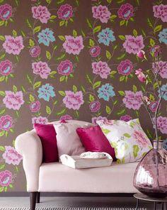 Forseti | Papel pintado floral | Patrones de papel pintado | Papeles de los 70