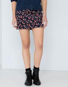 Bershka Ukraine - Bershka print skirt with zipper