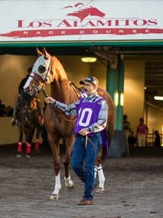 California Chrome at his home track