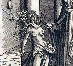 Hans Burgkmair - The Exorcism, 1799 Maleficarum, Christian Mysticism, Religious Paintings, The Exorcist, Witch Art, Art Graphique, Medieval Art, Old Art, Memento Mori