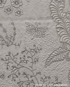 Whole cloth quilts, done in icy white or pale pastels, remind us of winter. We've never done a feature on whole cloth quilts, perhaps becau...