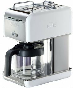 DeLonghi Kmix 10-Cup Drip Coffee Maker, White by Delonghi. $136.98. 8 Colorful design options are available. Simple, iconic and stunning design makes a bold design statement in any kitchen. Highest quality materials and expert craftsmanship. Long lasting and durable die-cast aluminum exterior. 10-Cup capacity. The simple, iconic and stunning design of the DeLonghi kMix Coffee Maker will make a bold statement in any kitchen decor. Made of the highest quality materials, manufacture...