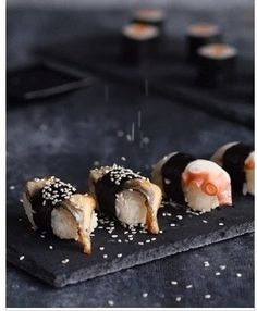 """mlife: """"""""No rules. Don't be afraid to do whatever you want. Cooking doesn't have to have rules. Sushi Co, Food Porn, Sushi Party, Iron Chef, Sushi Recipes, Tasty, Yummy Food, Mets, Japanese Food"""