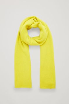 Front image of Cos cashmere scarf in yellow