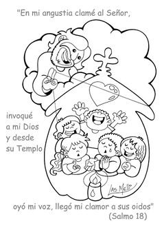 El Rincón de las Melli: SALMO DIBUJADO: Clamé al Señor... Bible Story Crafts, Bible Crafts For Kids, Bible Stories, Bible Activities, Sunday School Crafts, Diy And Crafts, Religion, Pop Up, Snoopy