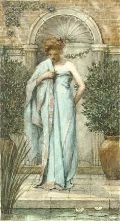 After the Bath, 1908 - Sir Philip Burne-Jones, son of Edward Burne-Jones