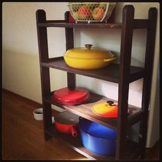 Le Creuset shelf