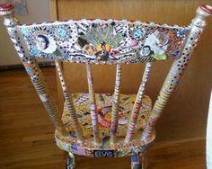 Elvis Folk Art Chair