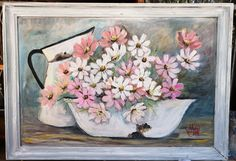 large painting by artist wilma on fb Large Painting, Painting & Drawing, Girls With Flowers, Cosmos, Drawings, Artist, Decor, Decoration, Artists