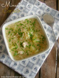 Ogni riccio un pasticcio - Blog di cucina: Minestra di patate con pollo