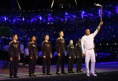 Opening Ceremonies: Steve Redgrave brought the torch into the stadium.