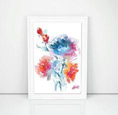 Floral Bunch Original Watercolour Artwork Floral by SCSArtGallery