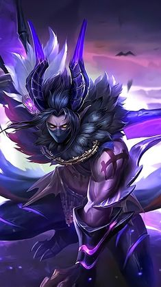 Wallpaper Moskov Twilight Dragon Skin Mobile Legends HD for Android and iOS Bruno Mobile Legends, Miya Mobile Legends, Mobile Legend Wallpaper, Hero Wallpaper, Dragon Mobile, Alucard Mobile Legends, Character Art, Character Design, Moba Legends
