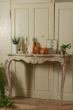 アンティーク コンソールテーブル(シャビーホワイト)  French Antique Console