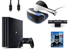 PlayStation VR Bundle 4 ItemsVR HeadsetPlaystation CameraPlayStation 4 Pro 1TBVR Game Disc Arkham VR * You can find more details by visiting the image link.Note:It is affiliate link to Amazon. #friends
