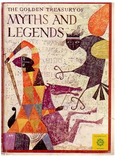 I loved this book as child, and now I love it even more. The Golden Treasury of Myths and Legends, Illustrated by Alice and Martin Provensen