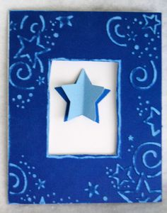 Peek a boo star card, also a really pretty butterfly card