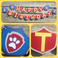Happy Birthday Paw Patrol inspired banner. by 2inspiredcrafters