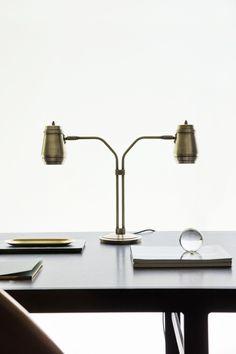 Cask Table Lamp - Brass