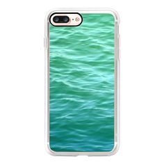 Teal Sea - iPhone 7 Case, iPhone 7 Plus Case, iPhone 7 Cover, iPhone 7... ($35) ❤ liked on Polyvore featuring accessories, tech accessories, phone cases, iphone case, iphone cases, teal iphone case, apple iphone case and iphone cover case