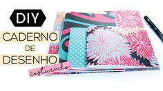 DIY VOLTA AS AULAS COM CADERNO DE DESENHO | Luana Viergutz  Vem aprender a fazer esse caderno de anotações costurado e totalmente personalizado pra você!