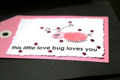 A few different Thumb Print cards for Valentines Day