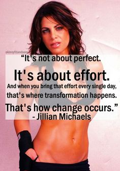 Love Jillian Michaels. Her workouts are tough, but they work!...how did I get so off track, gotta find where my exercise dvds are hiding.