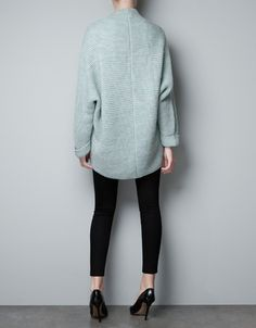 RIBBED FRONT CARDIGAN - Knitwear - Woman - ZARA United States