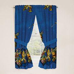 Teenage Mutant Ninja Turtles Polyester Curtain Panel, Set of 2: Decor : Walmart.com