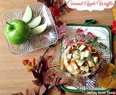Caramel Apple Waffles recipe #4morewaffles #cbias #shop