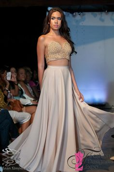 Runway Long Flowy Skirt by YvetteElfawal on Etsy, $150.00