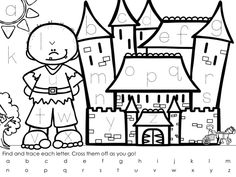 Find and Trace the Alphabet - Liz's Early Learning Spot Alphabet Writing, Preschool Writing, Free Preschool, Preschool Crafts, Fairy Tale Crafts, Fairy Tale Theme, Free Alphabet Printables, Alphabet Activities, Fairy Tales Unit