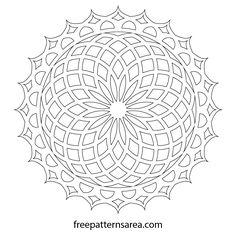 Geometric Lotus Mandala Printable PDF Drawing - My site Lotus Mandala, Geometric Mandala, Geometric Circle, Mandala Art, Mandala Painting, Mandala Stencils, Islamic Art Pattern, Mandala Pattern, Pattern Art