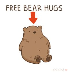 Awww, so cute.I love warm hugs, just like Olaf! And I think hugging a kawaii blushing bear would be a very warm hug! Hug Gif, Dibujos Cute, Free Hugs, Cheer Up, Cute Quotes, Make You Smile, Just In Case, Pokemon, Cute Animals