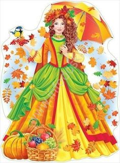 A kép megjelenik a девушка осень Diy And Crafts, Crafts For Kids, Fairy Princesses, Autumn Crafts, Russian Art, Hello Autumn, Classroom Decor, Storytelling, Cross Stitch Patterns