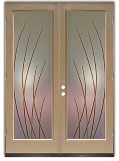 Glass Front Doors, Entry Doors that Make a Statement! Your front door is your home's initial focal point and glass doors by Sans Soucie with frosted, etched