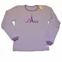 Remera Paris lila interlock de algodón niña-ropa para chicos y bebes