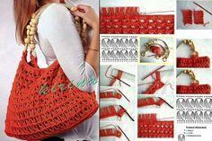 Broomstick Lace Crochet bag | Crochetz.com