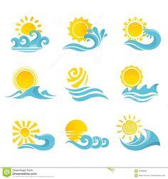 sun wave art - Google Search