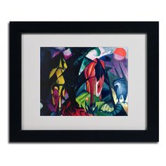 Horse and Eagle 1912 by Franz Marc Matted Framed Painting Print