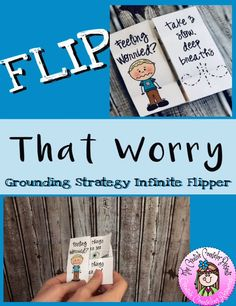 Grounding Strategy Infinite Flipper for Anxiety Coping Skill School Counseling Office, Elementary School Counselor, Friendship Lessons, Anxiety Coping Skills, Counseling Activities, Guidance Lessons, Social Emotional Learning, Study Skills, Character Education