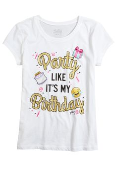 Birthday Party Graphic Tee Original Price 1200 Available At Justice Emoji